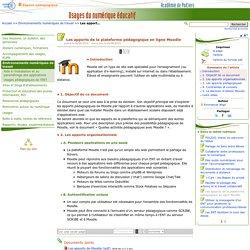 Les apports de la plateforme pédagogique en ligne Moodle- Usages du numérique éducatif