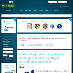 La Trousse à projets : une plateforme numérique au service de projets éducatifs et pédagogiques