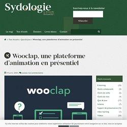 Wooclap, une plateforme d'animation en présentiel