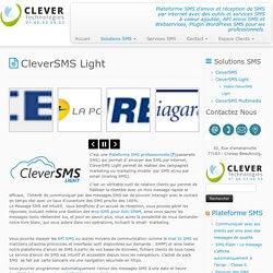 Plateforme SMS professionnelle pour envoyer et recevoir des SMS par internet