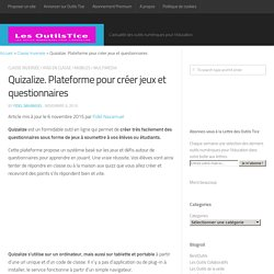 Quizalize. Plateforme pour créer jeux et questionnaires – Les Outils Tice