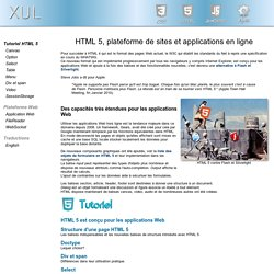 HTML 5, plateforme de sites et applications en ligne