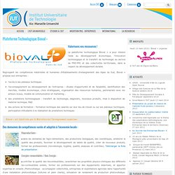 Plateforme Technologique Bioval +