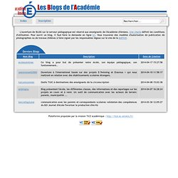Les blogs de l'académie