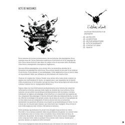 L'Atelier Volant, plateformeL'Atelier Volant, plateforme de réflexions et d'actions dans l'espaceACTE DE NAISSANCE