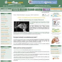 CLIC et réseaux, Aidants : les plateformes daccompagnement et de répit