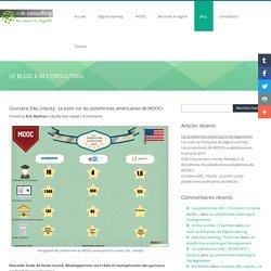 Coursera, Edx, Udacity : Le point sur les plateformes américaines de MOOCs - e-m consulting