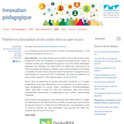 Plateformes d'annotations et de curation libres ou open source