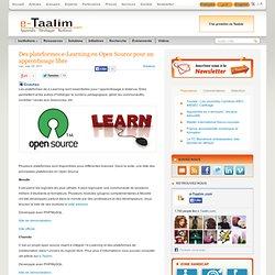 Des plateformes e-Learning en Open Source pour un apprentissage libre