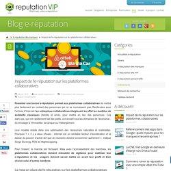 Impact de l'e-réputation sur les plateformes collaboratives