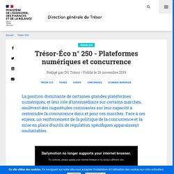 250 - Plateformes numériques et concurrence