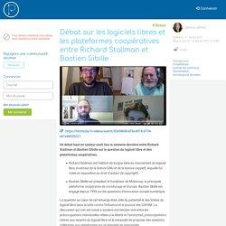 Débat sur les logiciels libres et les plateformes coopératives entre Richard Stallman et Bastien Sibille