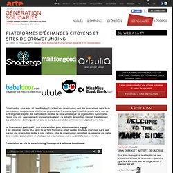 Plateformes d'échanges citoyens et sites de crowdfunding