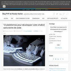 12 plateformes pour développer votre chatbot sans écrire de code