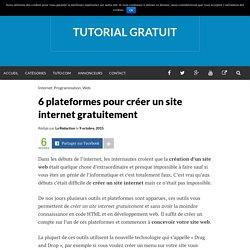 6 plateformes pour créer un site internet gratuitement