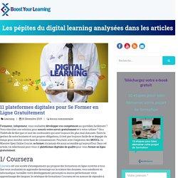 11 plateformes digitales pour Se Former en Ligne Gratuitement
