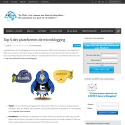 Top 5 des plateformes de microblogging