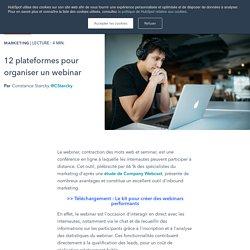 12 plateformes pour organiser un webinar