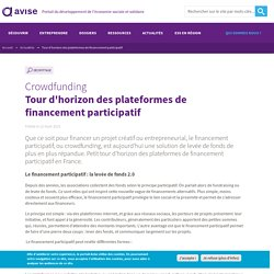 Tour d'horizon des plateformes de financement participatif