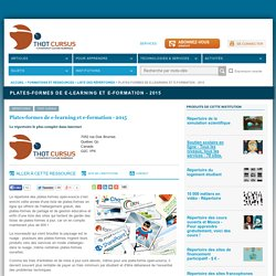 Plates-formes de e-learning et e-formation - 2015