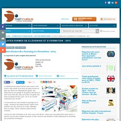 Plates-formes de e-learning et e-formation - 2013