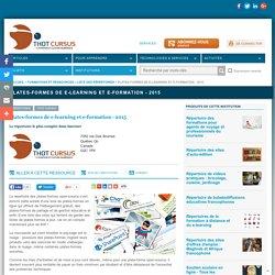 Plates-formes de e-learning et e-formation - 2015