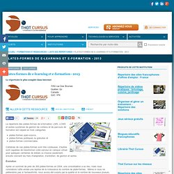 -Plates-formes de e-learning et e-formation - 2010