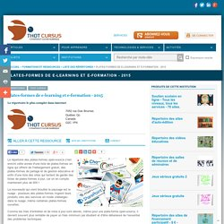 Plates-formes de e-learning et e-formation - 2016