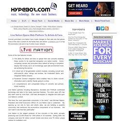 Live Nation Opens Web Platform To Artists