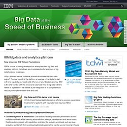 IBM big data platform - Bringing big data to the Enterprise
