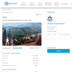 Online Platform to Buy and Sell Businesses,