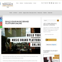 Build Your Music Brand Platform Online