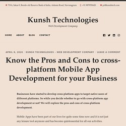 Which are the Pros and Cons of a Cross-Platform Development for your Business
