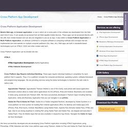 Best Technology: Cross Platform Application Development