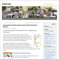 Cross-platform Mobile App Development [Free Download Report] | Tribal Labs