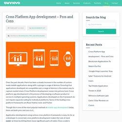 Cross Platform App development - Pros and Cons - Wiinnova Software Labs