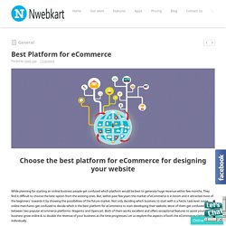 Best Platform for eCommerce - Best eCommerce software