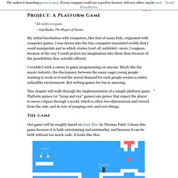 Project: A Platform Game