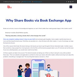 Book Sharing Platform - Build your book exchange community BEE App