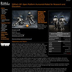 DARwIn OP: Open Platform Humanoid Robot for Research and Education - RoMeLa
