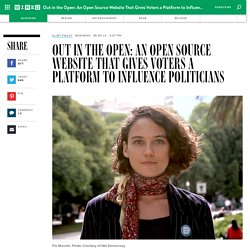 Out in the Open: An Open Source Website That Gives Voters a Platform to Influence Politicians