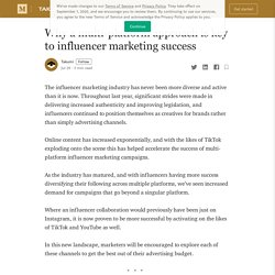 Why a multi-platform approach is key to influencer marketing success
