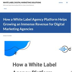 How a White Label Agency Platform Helps Growing an Immense Revenue for Digital Marketing Agencies