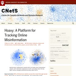 Hoaxy: A Platform for Tracking Online Misinformation