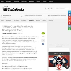 15 Best Cross-Platform Mobile Development Tools