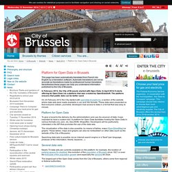 Platform for Open Data in Brussels