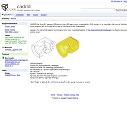 caddd - Project Hosting on Google Code