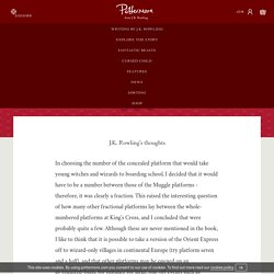 Platform Nine and Three-Quarters - Pottermore