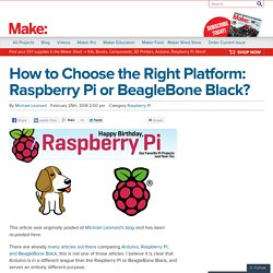 How to Choose the Right Platform: Raspberry Pi or BeagleBone Black?