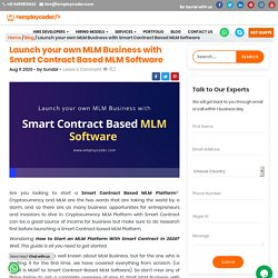 MLM Platform with Smart Contract